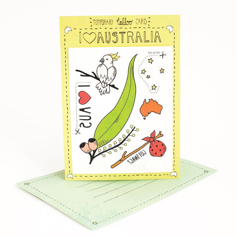 Tattoo Card  I Heart Australia