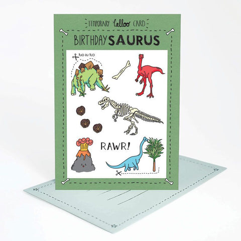Tattoo Card Birthdaysaurus