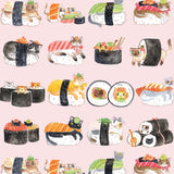 Wrapping Paper Sushi Cats