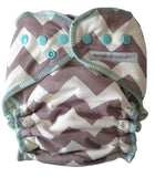 Sustainable Babyish Organic Overnight Bamboo Fleece Fitted Nappy