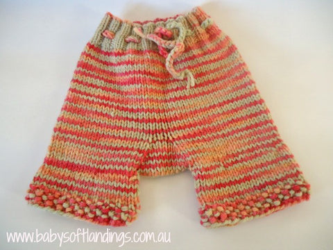 Wool Shorties Small - Nappy Cover - Watermelon