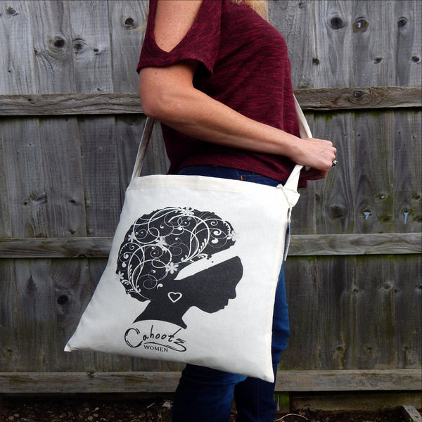 3a72cbed323 sling tote bag in organic cotton.