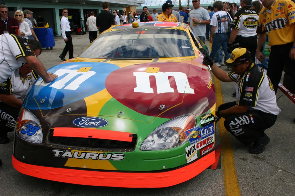 M&M's car before the race