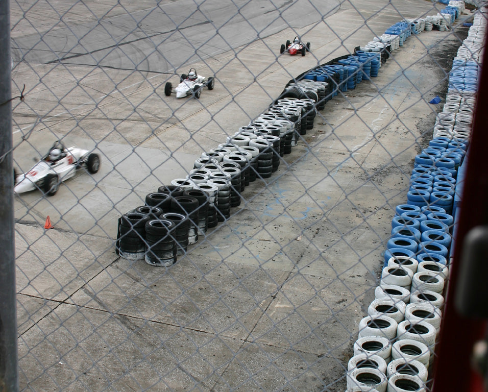 Formula cars in formation