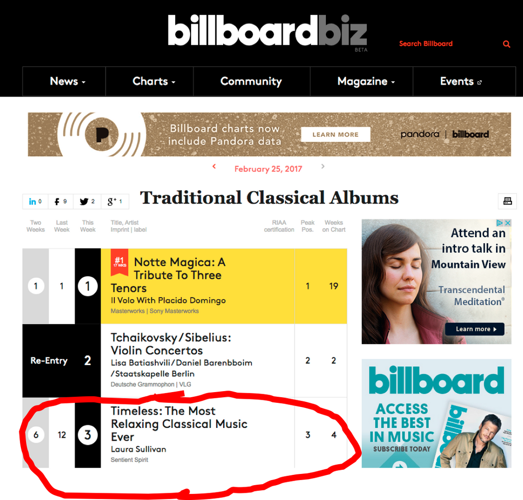 Number 3 on Billboard!