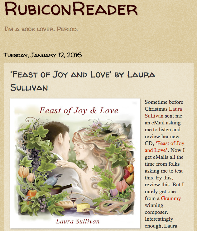 "Great Review of ""Feast of Joy and Love!"""