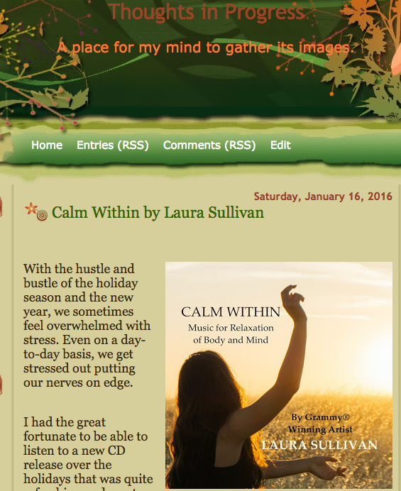 "Beautiful Review of New Release ""Calm Within"""
