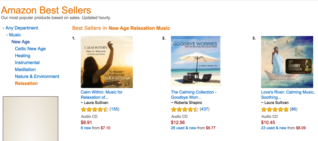 2 CDs on Amazon Best Seller List!