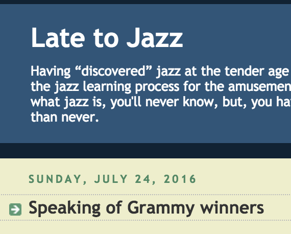 "Review of New Release from ""Late to Jazz"""