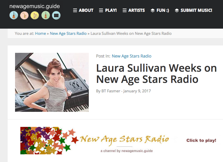 Hear Laura Featured on New Age Stars Radio!