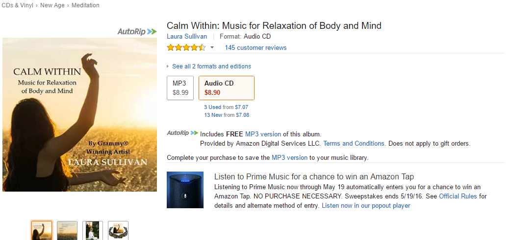 Calm Within: Music for Relaxation of Body and Mind – Calm Music for Sleep, Stress Relief Music