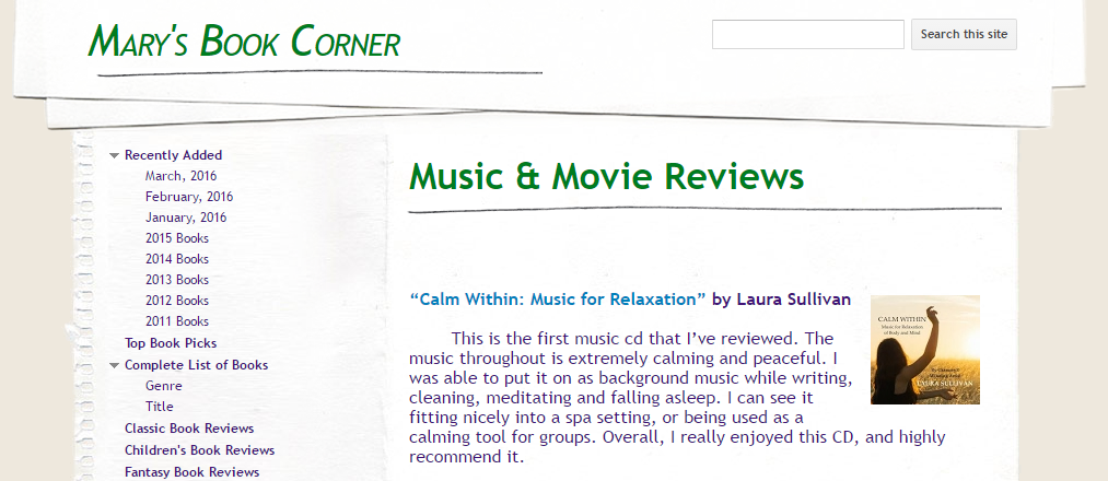 "Review of Forthcoming Release - ""Calm Within"""