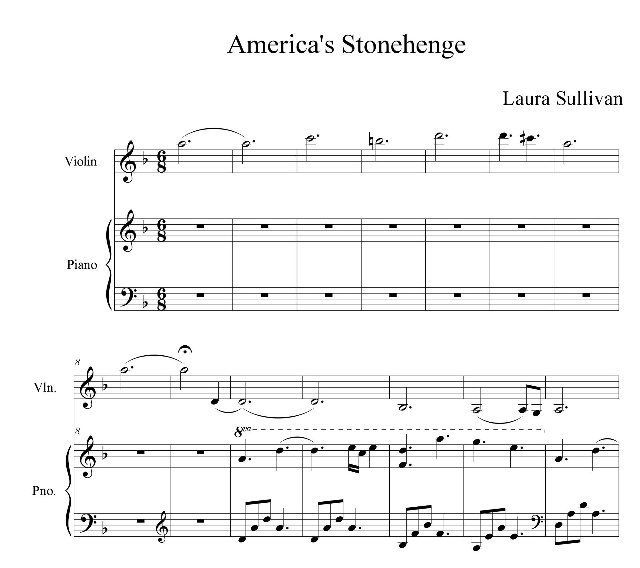 Sheet Music - Laura Sullivan