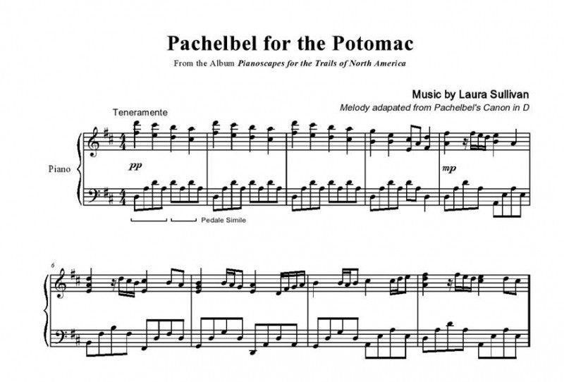 Pachelbel for the Potomac – Sheet Music (Canon by Pachelbel, Arranged by  Laura Sullivan)