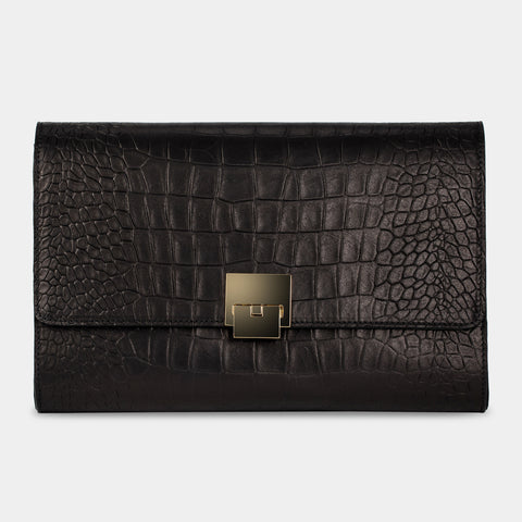 Jeanette Alligator Black