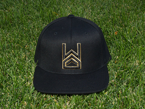 Gold Logo Snapback - Warning Track Apparel - 1