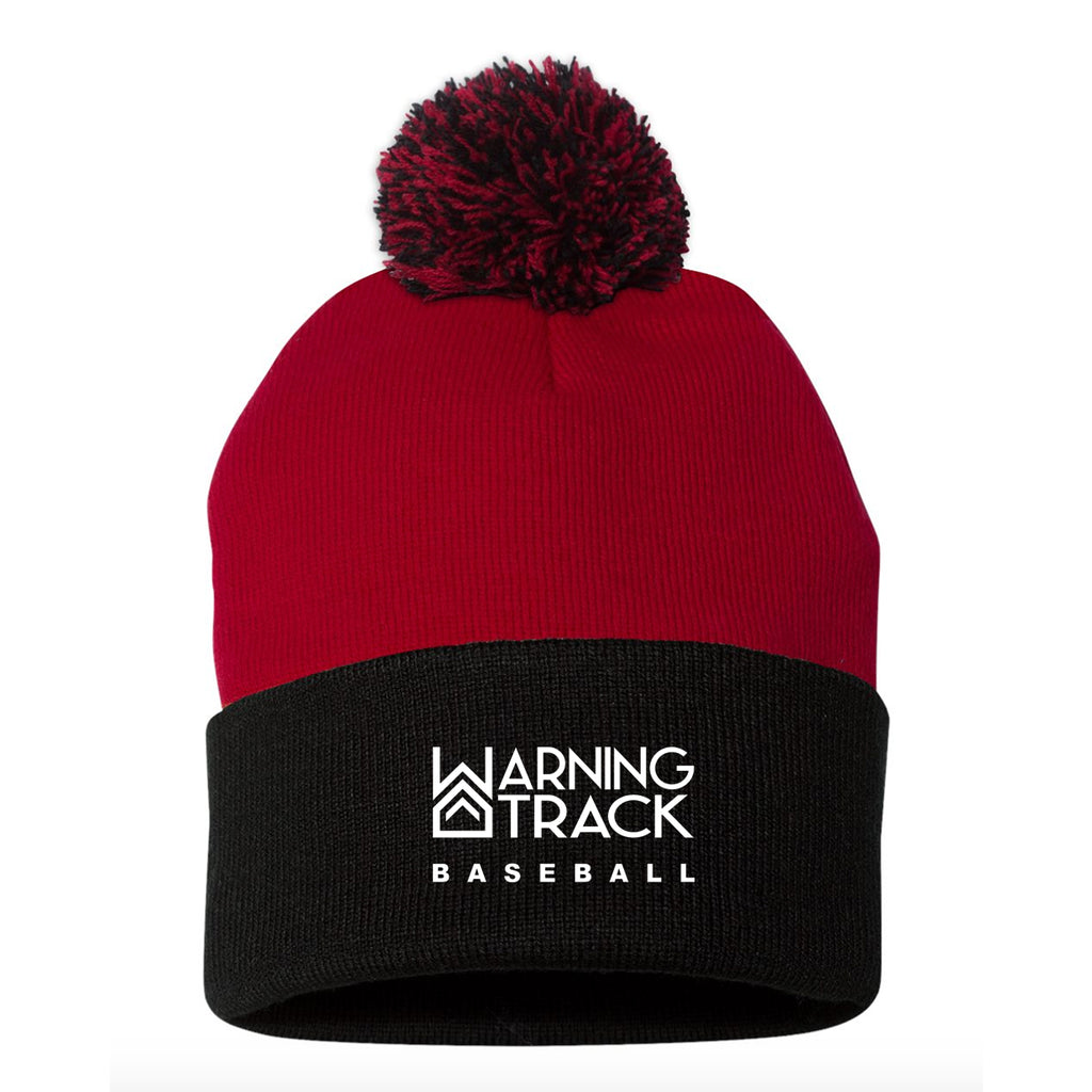 Red/Black Beanie with ball