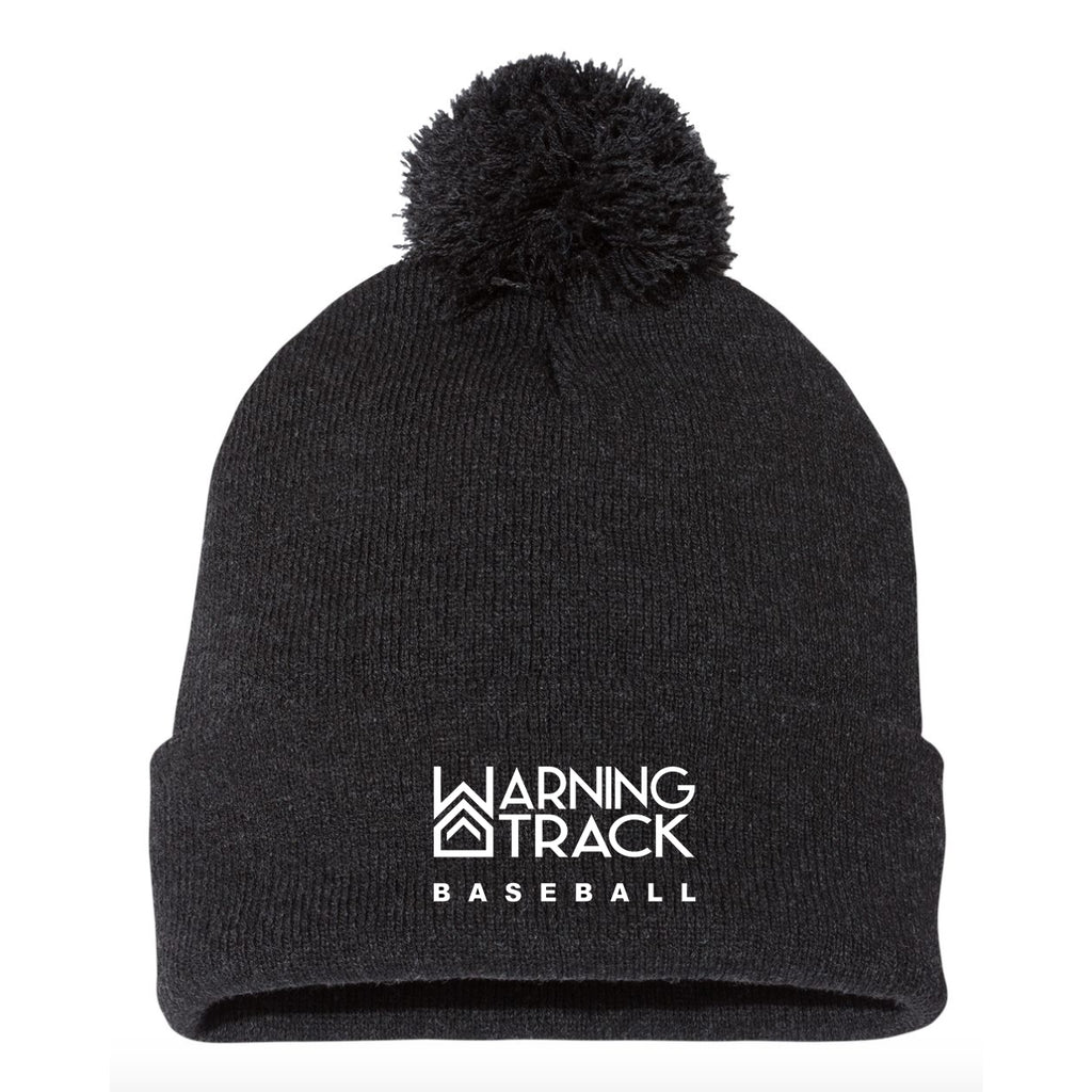 Charcoal Beanie with ball