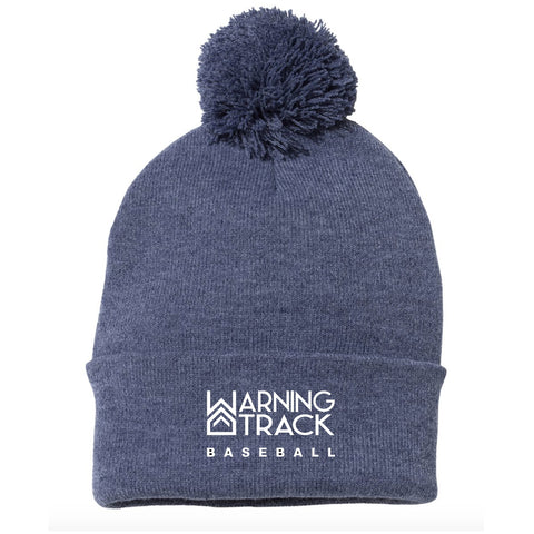 Navy Beanie with ball