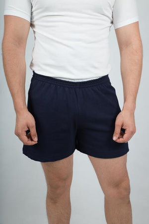 Men's Navy Shorts - The Organic Tshirt