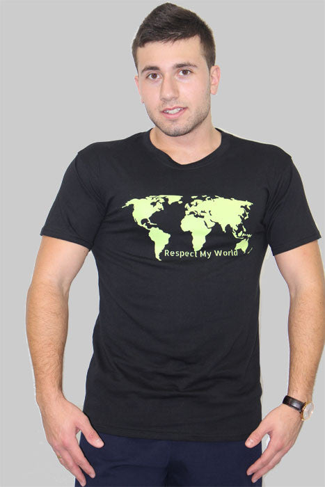 Respect My World T-shirt Man - theorganictshirt