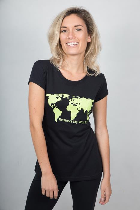 Respect My World T-shirt Woman - theorganictshirt