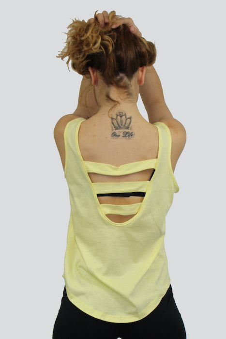 Women's Strappy Back Singlet - The Organic Tshirt