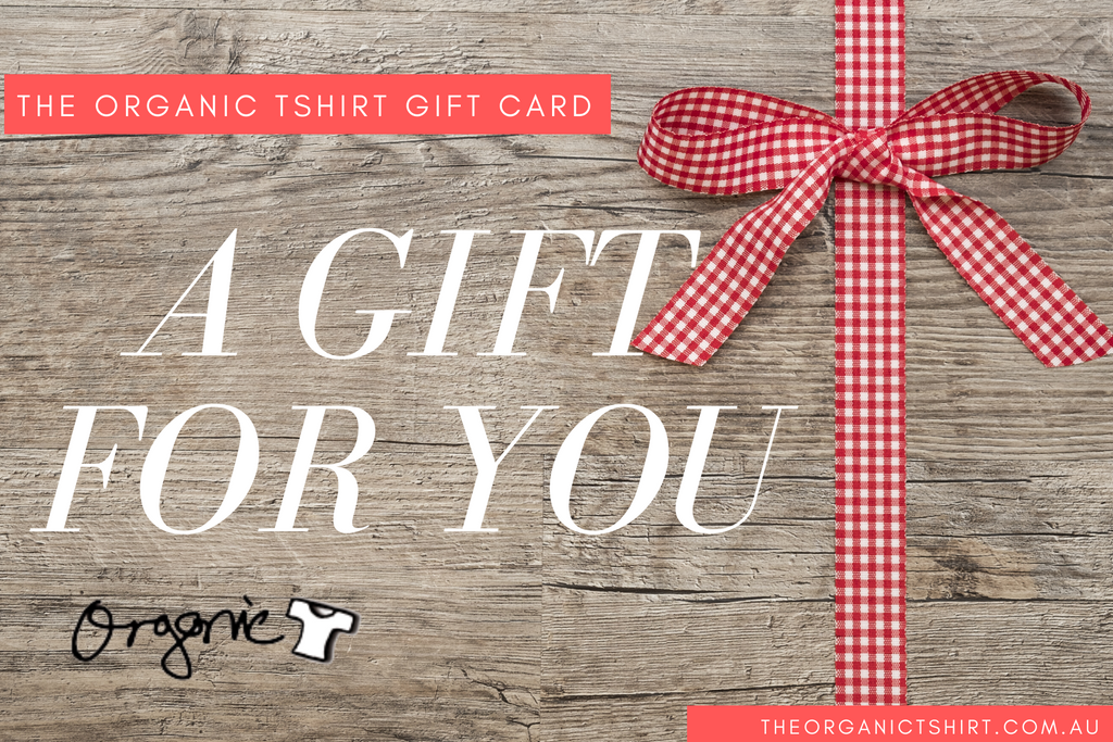 The Organic Tshirt Gift Card