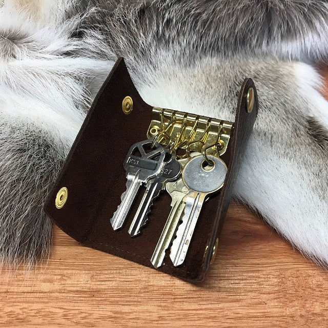 Leather Keyring - Swagger & Hide | Our leather luggage accessories and leather travel bags make the perfect gift for him!  All of our products are handcrafted and personalised.