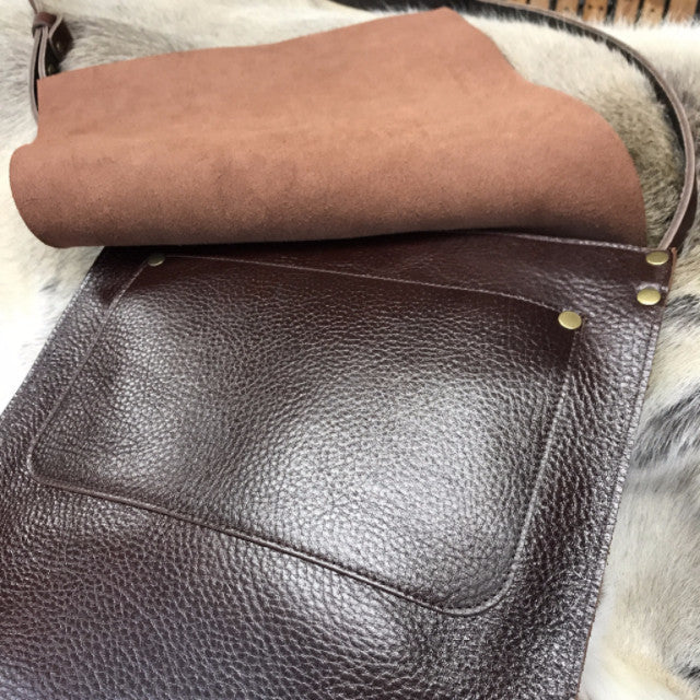 Leather Saddle Satchel - Swagger & Hide | Our leather luggage accessories and leather travel bags make the perfect gift for him!  All of our products are handcrafted and personalised.