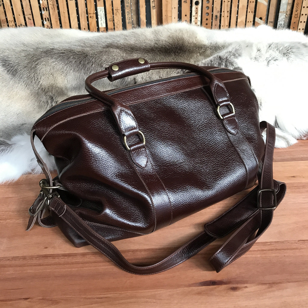 Leather Weekender Adventurer SwaggerandHide