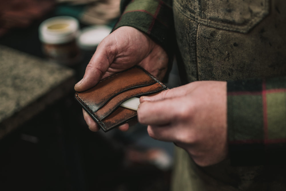 The Gatehouse wallet is a minimalist design for a front pocket carry. Handmade in California.