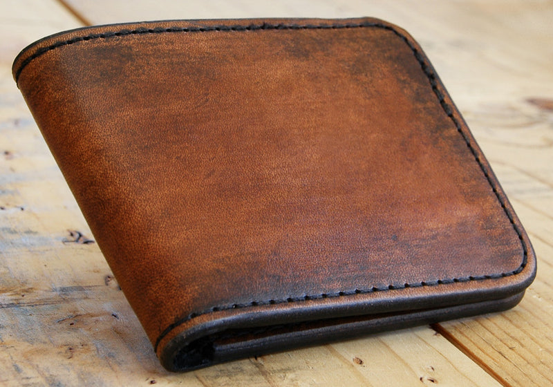Bi-Fold Wallet - Minimalist Slim Style Full Grain Leather Wallet