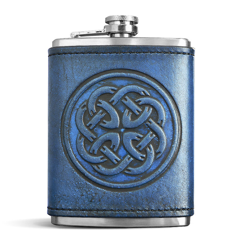 Leather Wrapped Flask - FATHER KNOT
