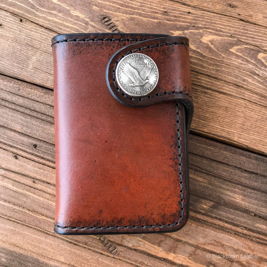 THE GALWAY: Vertical Snap Wallet - Flying Eagle Quarter Dollar