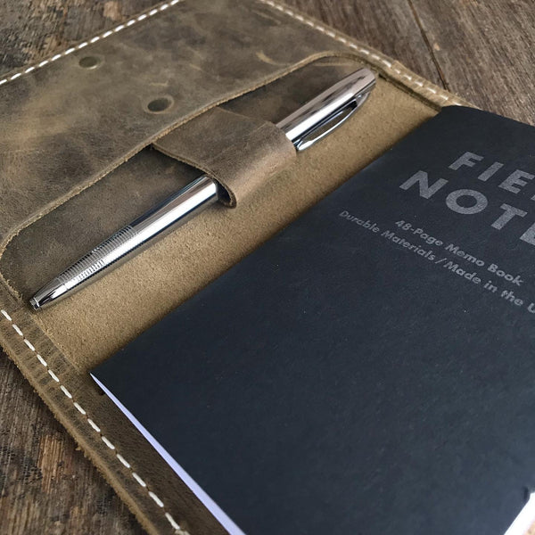 Leather Field Notes Cover, Passport travel wallet