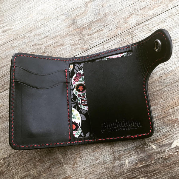 THE GALWAY: Vertical Snap Wallet - Dia De Los Muertos