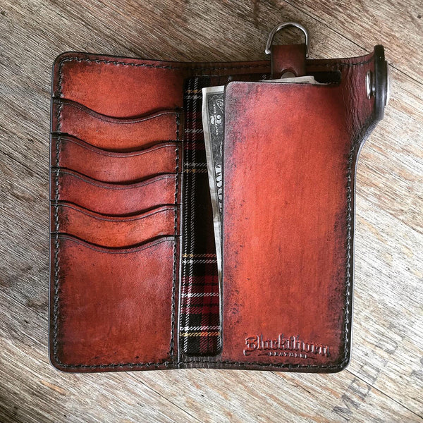 THE GALWAY TRUCKER: Vertical Snap Wallet - Indian Head Buffalo Nickel