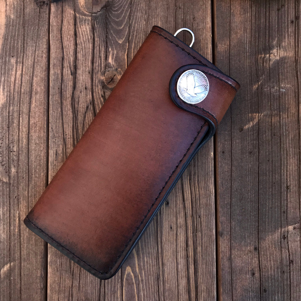 THE GALWAY TRUCKER: FLYING EAGLE US QUARTER - Vertical Snap Wallet -