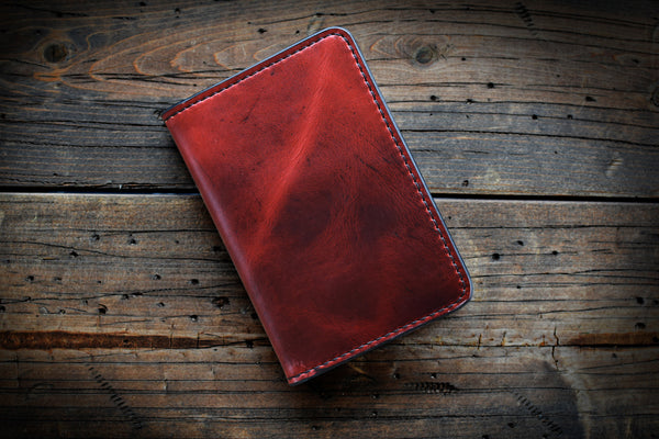 Leather Field Notes Cover - Ruby Red