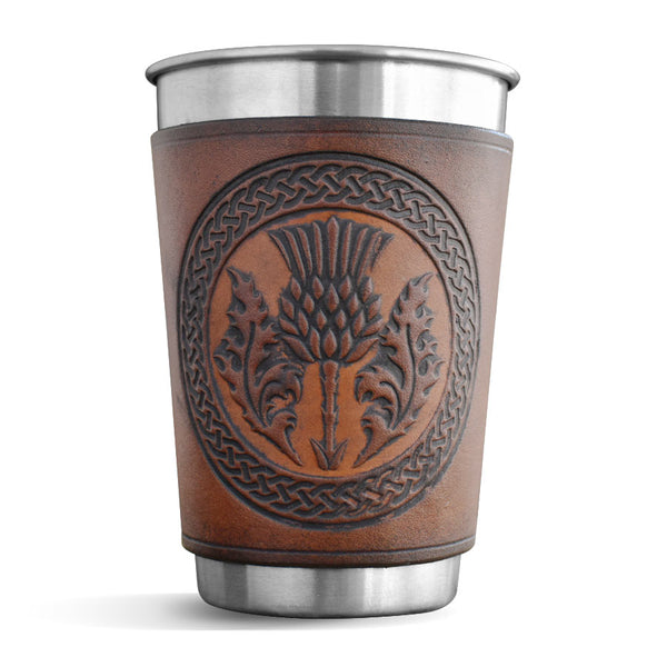 Leather Wrapped Pint - THISTLE