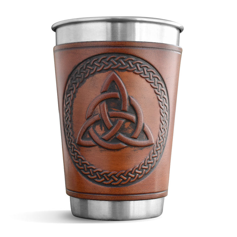 Leather Wrapped Pint - TRINITY KNOT