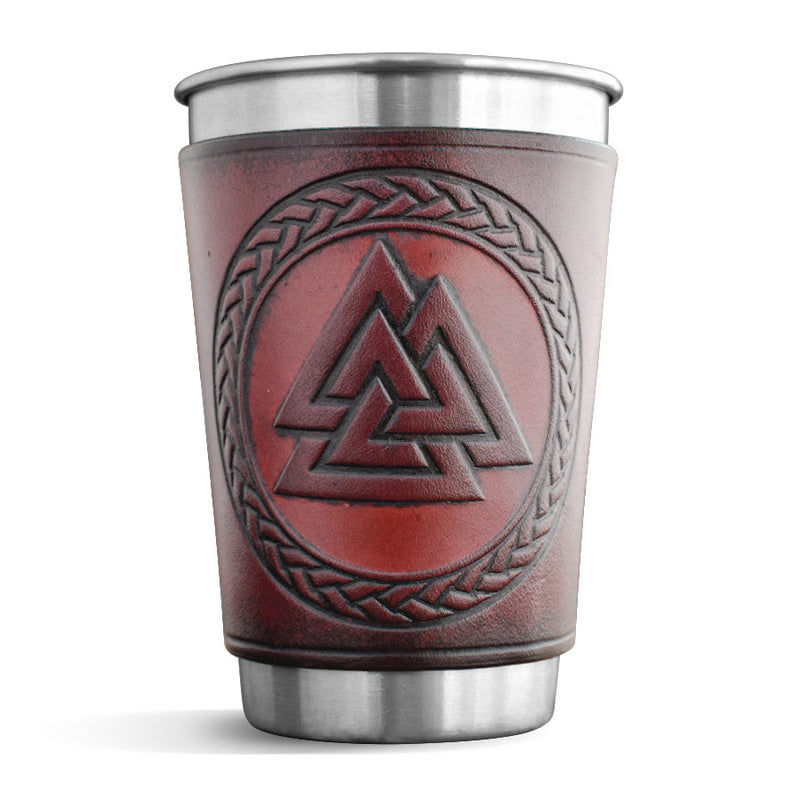 Leather Wrapped Pint - VALKNUT