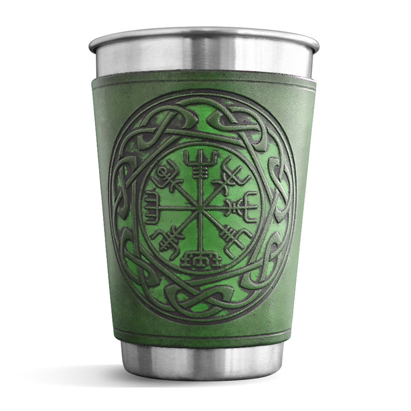 Leather Wrapped Pint - VEGVISIR
