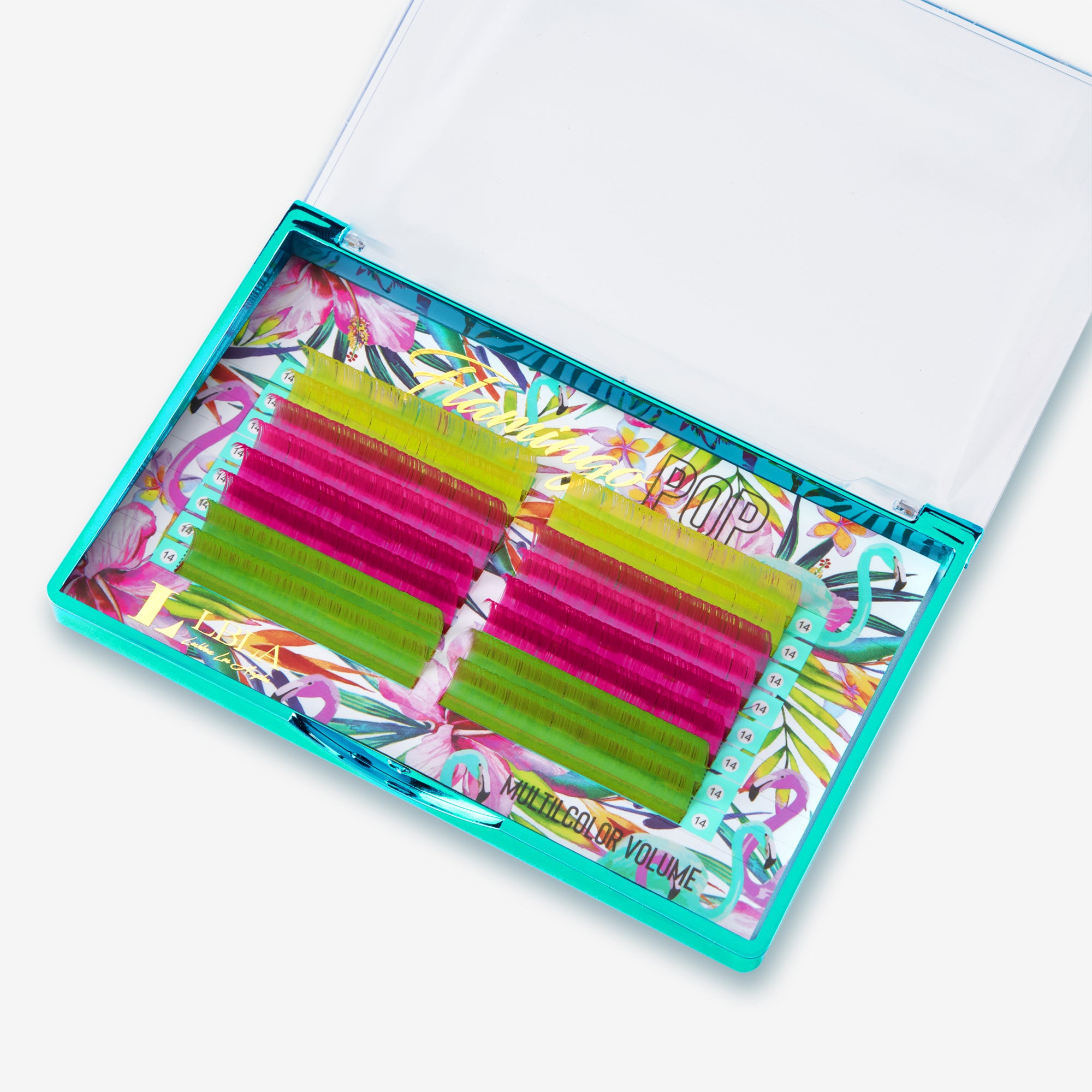 Flamingo POP Lashes Mixed Color Tray - 16 lines 0.07mm