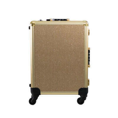SlayCase XL Vanity Travel Train Case in Champagne Sparkle