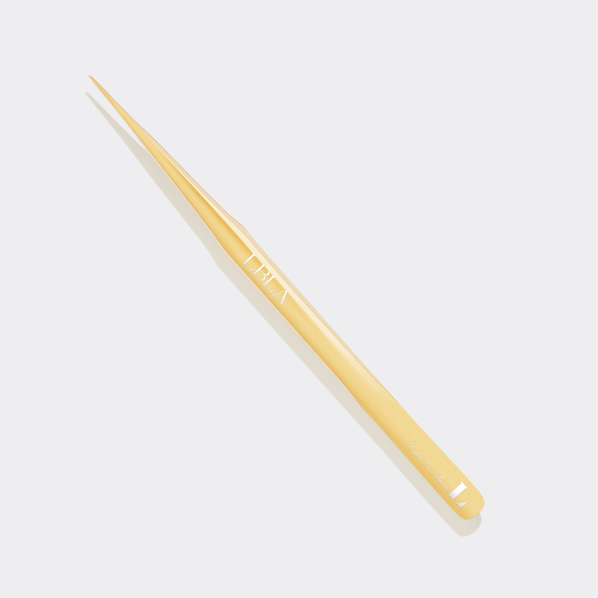 Straight Gold Slim Isolation Tweezer - Long