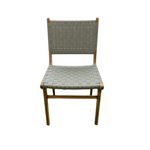 Coady Teak & Woven Strapping Dining Chair