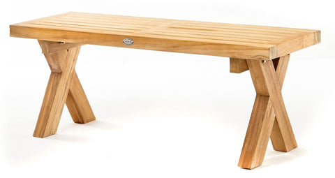 Cross Leg Bench - The Teak Place