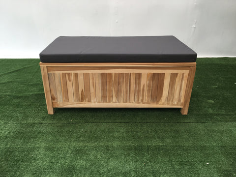 Storage Bench with Cushion - The Teak Place